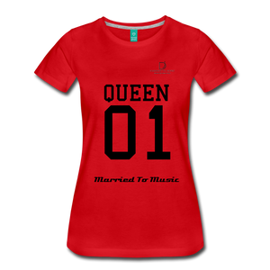 "Women DJ's Dream Logo - ""Married To Music"" Queen 01 Women's Premium T-Shirt - red"