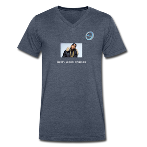 """Nipsey Hussle Forever"" Animation - Premium Men's V-Neck T-Shirt by Canvas - heather navy"