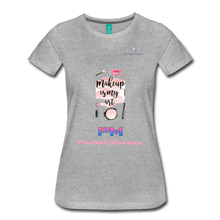 "Load image into Gallery viewer, P.M. - ""Perfect Makeup"" Line - (Makeup Is My Art) Premium Short Sleeve T-Shirt - heather gray"