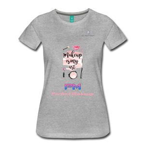 "P.M. - ""Perfect Makeup"" Line - (Makeup Is My Art) Premium Short Sleeve T-Shirt - heather gray"