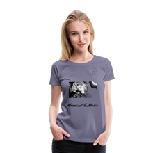 "Load image into Gallery viewer, Women DJ's Dream Logo - ""Married To Music"" Iconic Madonna Women's Premium T-Shirt - washed violet"