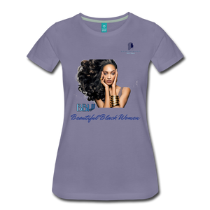 """Beautiful Black Women"" Line - (Inviting) Soft Premium Cotton T-Shirt - washed violet"