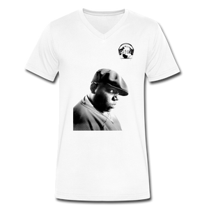 Biggie Smalls/Notorious B.I.G. - E-Luv Logo I Men's V-Neck T-Shirt by Canvas - white