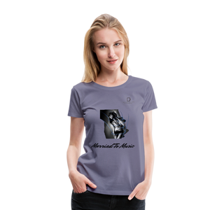 "Women DJ's Dream Logo - ""Married To Music"" Girl-Art Women's Premium Organic T-Shirt - washed violet"