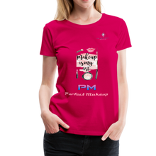 "Load image into Gallery viewer, P.M. - ""Perfect Makeup"" Line - (Makeup Is My Art) Premium Short Sleeve T-Shirt - dark pink"