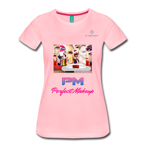 "P.M. -""Perfect Makeup"" Line - Faces Of Makeup Soft Premium T-Shirt - pink"