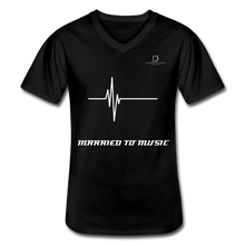 Load image into Gallery viewer, DJ's Dream Attire Logo - Married To Music Line Men's V-Neck T-Shirt - black