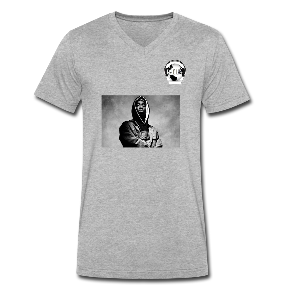 2Pac High Quality Heather Grey I Men's V-Neck T-Shirt by Canvas - heather gray