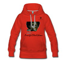 "Load image into Gallery viewer, ""Beautiful Black Women"" Line - (Tastefully Seductive) Women's Soft Premium Hoodie - red"