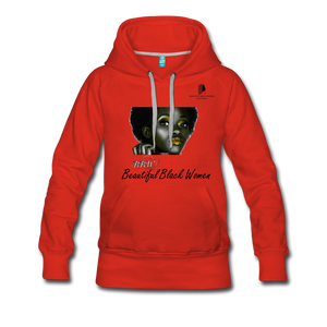 """Beautiful Black Women"" Line - (Tastefully Seductive) Women's Soft Premium Hoodie - red"