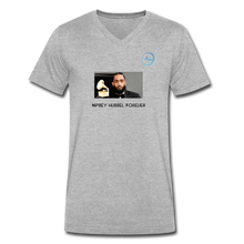 "Load image into Gallery viewer, N.L. ""Nipsey Hussle Forever"" At The Grammy's - Men's V-Neck T-Shirt by Canvas - heather gray"