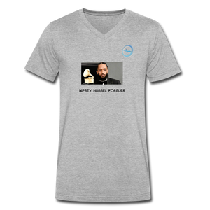 "N.L. ""Nipsey Hussle Forever"" At The Grammy's - Men's V-Neck T-Shirt by Canvas - heather gray"