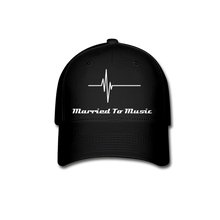 "Load image into Gallery viewer, ""Married To Music"" - Baseball Cap - black"
