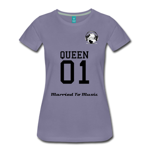 "Premier DJ E-Luv Logo - ""Married To Music"" Queen 01 Women's Premium T-Shirt - washed violet"