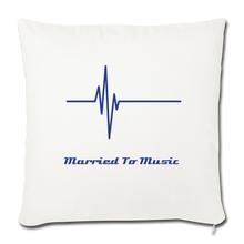 "Load image into Gallery viewer, ""Married To Music"" Line - Navy Style Throw Pillow Cover 18"" x 18"" - natural white"