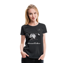 "Load image into Gallery viewer, Women DJ's Dream Logo - ""Married To Music"" Iconic Madonna Women's Premium Black T-Shirt - black"