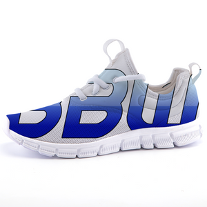 """Beautiful Black Women"" Line - Women's *Breathable Baby Blue Two-Tone Sports Sneakers"