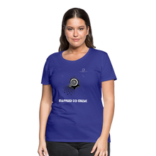 "Load image into Gallery viewer, Women DJ's Dream Logo - ""Married To Music"" Speaker Box Women's Premium T-Shirt - royal blue"