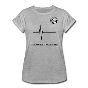"Premier DJ E-Luv Logo - ""Married To Music"" Signature Women's Relaxed Fit T-Shirt - heather gray"