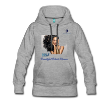 "Load image into Gallery viewer, ""Beautiful Black Women"" Line - (Inviting) Women's Premium Soft Hoodie - heather gray"