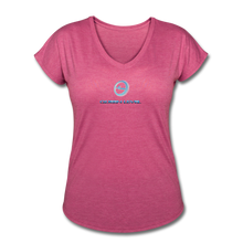 "Load image into Gallery viewer, Next Level *Official ""Queen Level"" - Women's Tri-Blend V-Neck T-Shirt - heather raspberry"