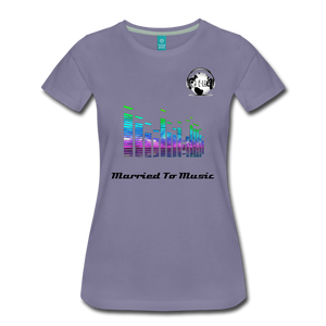 "Premier DJ E-Luv Logo - ""Married To Music"" EQ. Slant Women's Premium T-Shirt - washed violet"