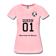 "Load image into Gallery viewer, Premier DJ E-Luv Logo - ""Married To Music"" Queen 01 Women's Premium T-Shirt - pink"