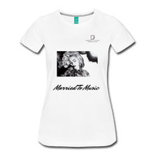 "Load image into Gallery viewer, Women DJ's Dream Logo - ""Married To Music"" Iconic Madonna Women's Premium T-Shirt - white"