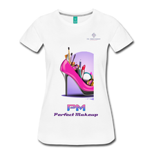 "Load image into Gallery viewer, P.M. - ""Perfect Makeup"" Line - Women's Favorite Premium Short Sleeve T-Shirt - white"