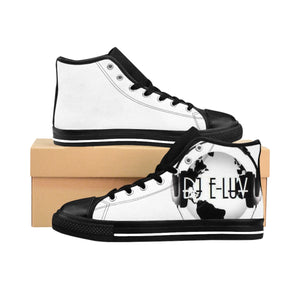 Premier DJ E-Luv *Official Logo - Custom Design Men's High-Top Sneakers