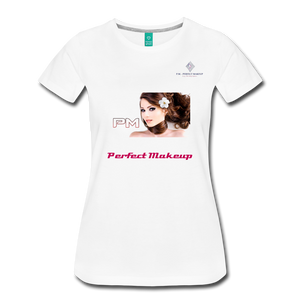 "P.M. - ""Perfect Makeup"" Line - The Boyfriend Soft Premium T-Shirt - white"