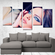 "Load image into Gallery viewer, P.M. - ""Perfect Makeup"" Line - *Signature (The Beautiful Stare) 5 Panels Canvas Wall Art"