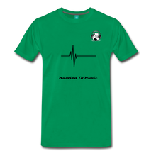 "Load image into Gallery viewer, Premier DJ E-Luv Logo - ""Married To Music"" Signature Men's Premium T-Shirt - kelly green"