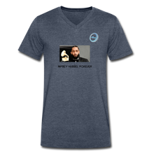 "Load image into Gallery viewer, N.L. ""Nipsey Hussle Forever"" At The Grammy's - Men's V-Neck T-Shirt by Canvas - heather navy"