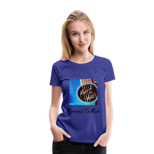 "Load image into Gallery viewer, Women DJ's Dream Logo - ""Married To Music"" Blue Guitar Women's Premium T-Shirt - royal blue"