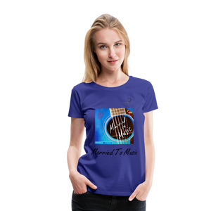"Women DJ's Dream Logo - ""Married To Music"" Blue Guitar Women's Premium T-Shirt - royal blue"
