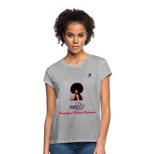 "Load image into Gallery viewer, ""Beautiful Black Women"" Line - (Classic Afro) Soft Premium Cotton T-Shirt - heather gray"