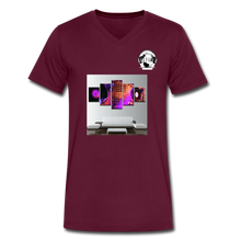 Load image into Gallery viewer, Premier DJ E-Luv Logo - Turntables & Mixer Wall Art - Men's V-Neck T-Shirt by Canvas - maroon