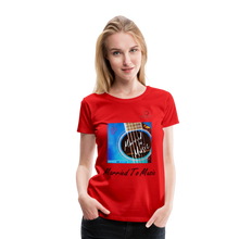 "Load image into Gallery viewer, Women DJ's Dream Logo - ""Married To Music"" Blue Guitar Women's Premium T-Shirt - red"