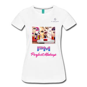 "P.M. -""Perfect Makeup"" Line - Faces Of Makeup Soft Premium T-Shirt - white"