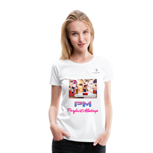 "Load image into Gallery viewer, P.M. -""Perfect Makeup"" Line - Faces Of Makeup Soft Premium T-Shirt - white"
