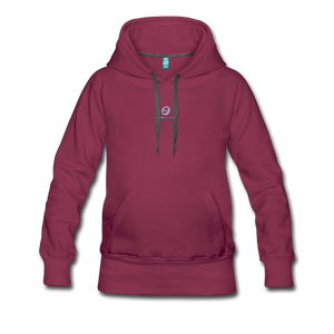 Next Level *Official Long Sleeve Women's Premium Hoodie - burgundy