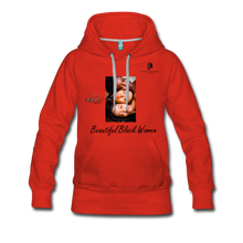 "Load image into Gallery viewer, ""Beautiful Black Women"" Line - (Shades Of Color) Soft Women's Premium Hoodie - red"