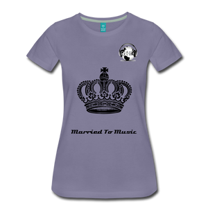"Premier DJ E-Luv Logo - ""Married To Music"" Queen Crown Women's Premium T-Shirt - washed violet"