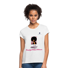 "Load image into Gallery viewer, ""Beautiful Black Women"" Line - (Classic Afro) Soft Premium Cotton T-Shirt - white"