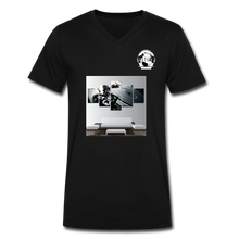 "Load image into Gallery viewer, Premier DJ E-Luv Logo - ""Wreck Da Decks"" Wall Art - Men's V-Neck T-Shirt by Canvas - black"