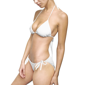 Premier DJ E-Luv *Official Logo - Women's Stylish White-Black  Bikini Swimsuit *On Sale Now*