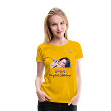 "Load image into Gallery viewer, P.M. -""Perfect Makeup"" Line - The Beautiful Stare Soft Signature Premium T-Shirt - sun yellow"
