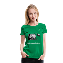 "Load image into Gallery viewer, Women DJ's Dream Logo - ""Married To Music"" Iconic Madonna Women's Premium Black T-Shirt - kelly green"