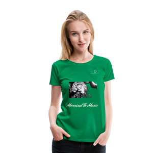 "Women DJ's Dream Logo - ""Married To Music"" Iconic Madonna Women's Premium Black T-Shirt - kelly green"